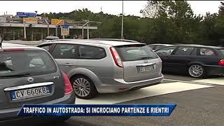 19/08/2017 - TRAFFICO IN AUTOSTRADA: SI INCROCIANO PARTENZE E RIENTRI DALLE FERIE