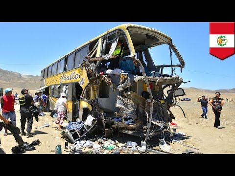 Peru bus crash: Four vehicles pile into each other on highway, killing at least 34