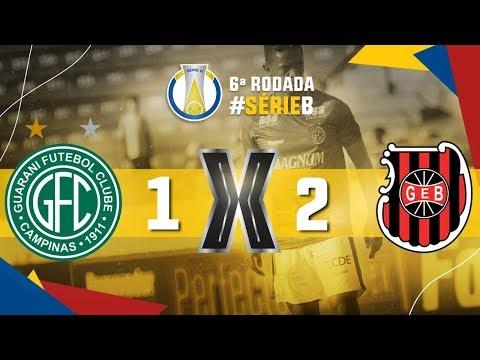 Gol de Guarani 1 x 2 Brasil de Pelotas-RS, Série B do Brasileiro 2019
