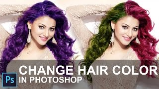 how to change hair color in photoshop cc 2015 in hindi