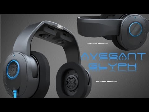 Glyph virtual display headphones