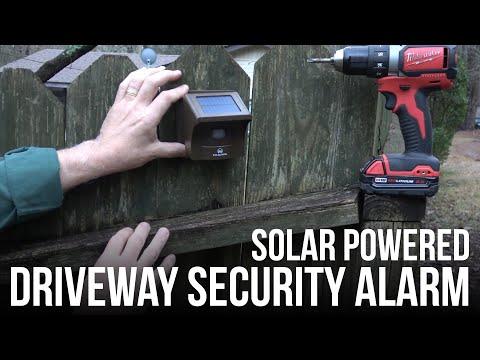 Solar Powered Driveway Security Alarm