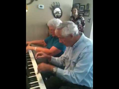 Kay Dunn and Dad (Jim Beinke) practicing Hungarian...
