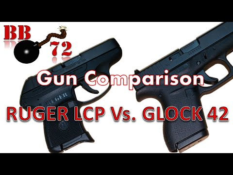 Gun Comparison - Ruger LCP and Glock 42 - YouTube