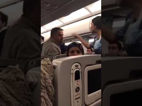 Fighting inside the plane of arab aircraft arab airline