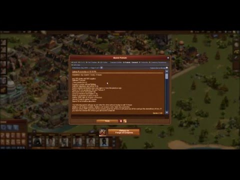 Where to find the Guild forum on Forge of Empires and other tips