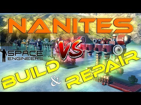 NANITES VS BUILD and REPAIR  Comparativa Space Engineers Gameplay Español Review