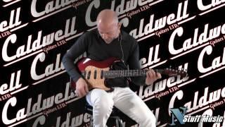 Caldwell Custom Electric Guitar (Burgandy Purple Fade)