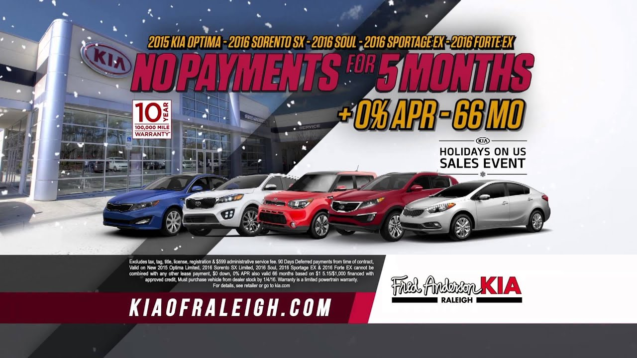 Fred Anderson Kia of Raleigh 2015 Holidays Us Payment