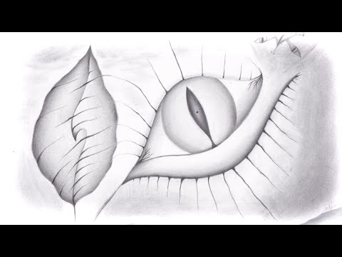 Awake abstract pencil drawing timelapse