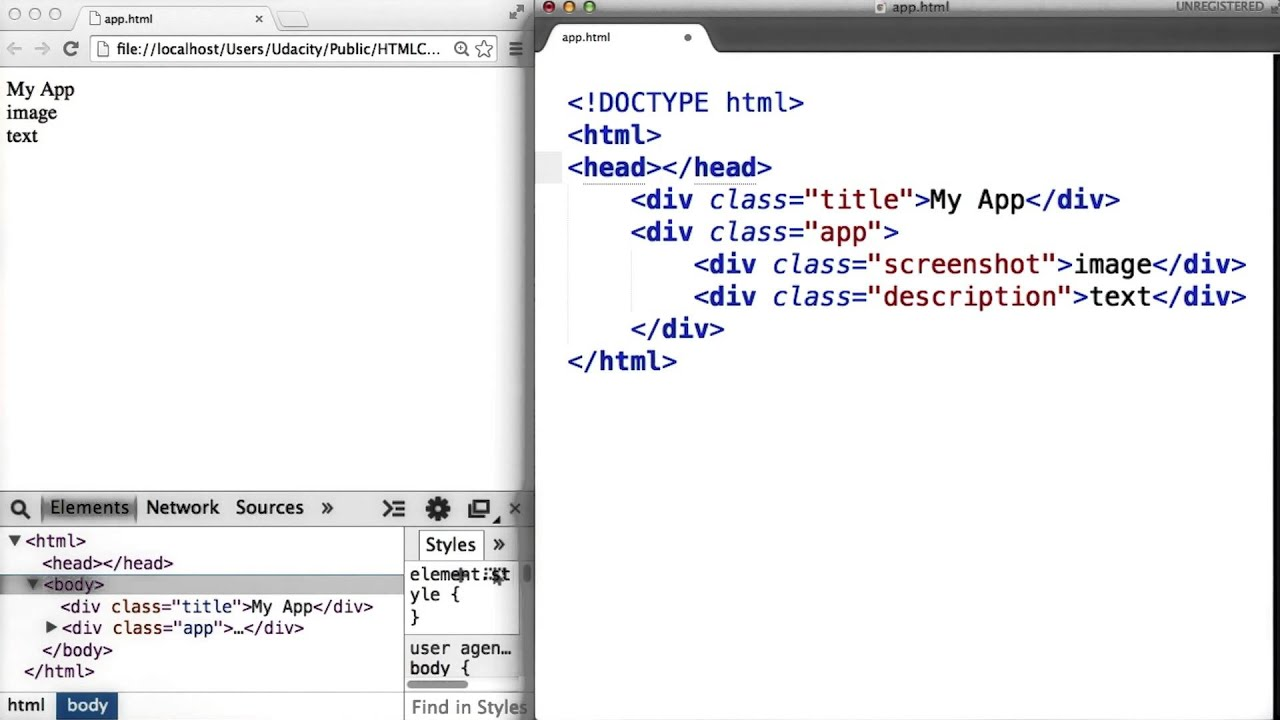 Intro to HTML and CSS - Adding Style in Sublime Text - YouTube