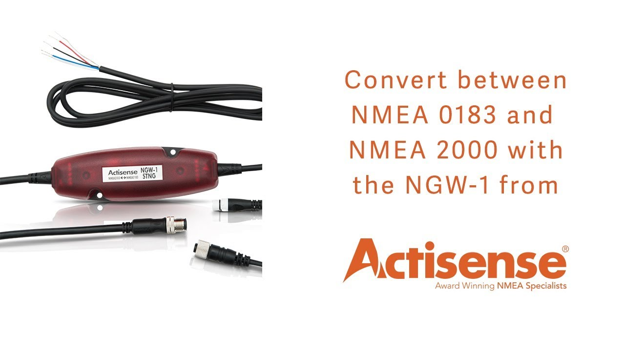 Convert between NMEA 0183 and NMEA 2000 with the NGW 1