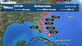 Latest Tropical Forecast: Saturday 5 a.m.