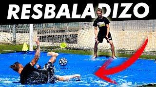 GIROS 99% IMPOSIBLES RESBALADIZOS - Retos de Fútbol Slip n Slide con Doctore Pollo