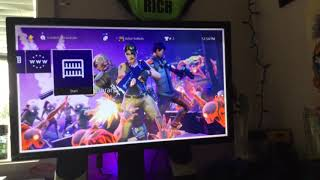 How to have a fortnite theme (A background) om ps4 (NO MODS OR HACKS)