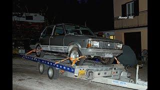 FIAT  ARGENTA .... anche senza luce si parte per il recupero della vecchia auto