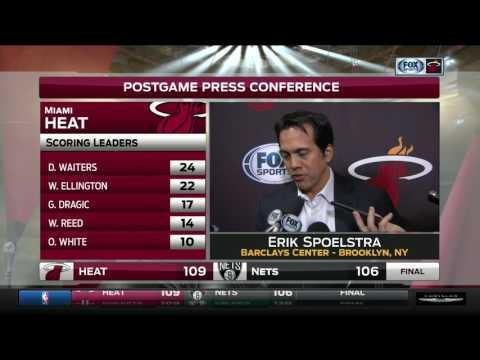 Erik Spoelstra -- Miami Heat at Brooklyn Nets 01/25/2017