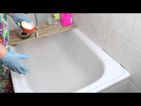 Как отмыть чугунную ванну от налета в домашних условиях