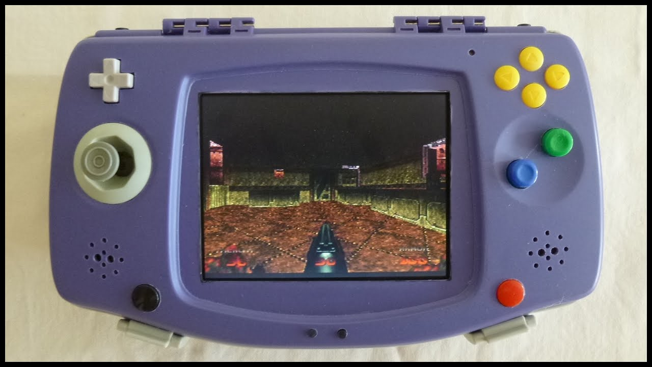 N64 handheld portable in a GBA Organizer