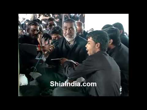 Zakhmi jo Qasim e Gul Recited By Mir Fateh Ali Afsar at Paril Mahal 7th Muharram 2013