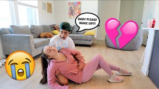 Passing Out While Working Out Prank On Boyfriend! *Cute Reaction*