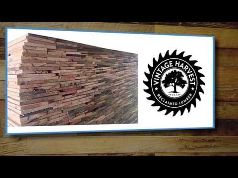 Vintage Harvest Reclaimed Wood DIY Installation