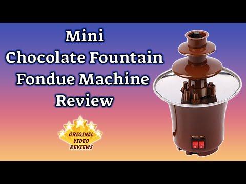 Mini Chocolate Fountain Fondue Machine Review 🍫⛲