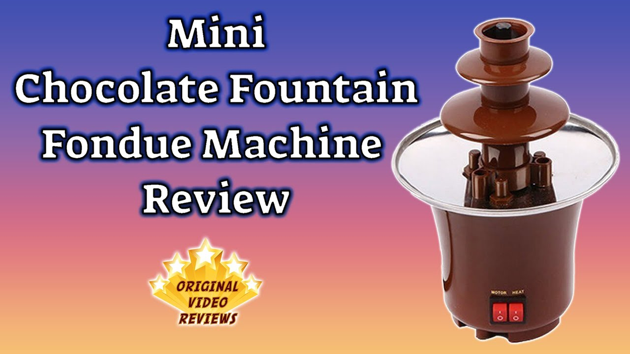 item review mini chocolate fountain fondue machine youtube. Black Bedroom Furniture Sets. Home Design Ideas