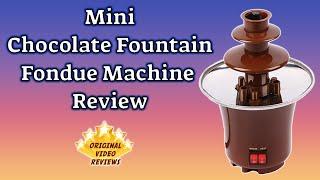 item review mini chocolate fountain fondue machine