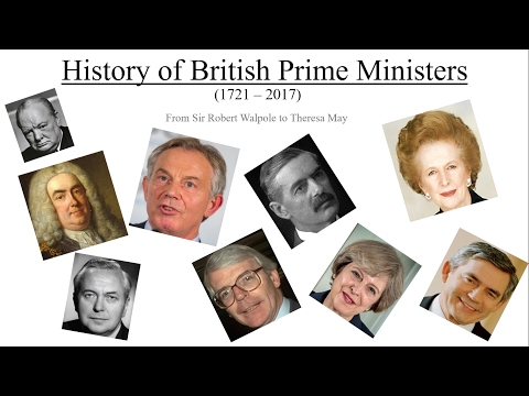 History of British Prime Ministers