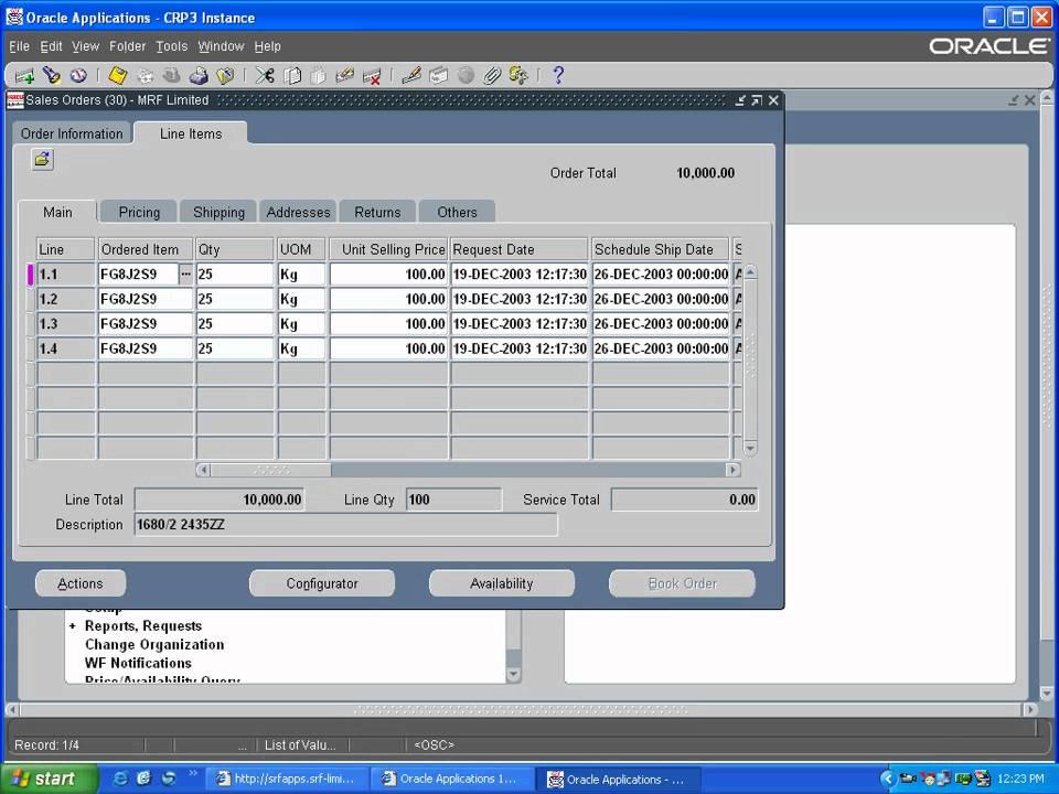 OM Split Sales Order Line