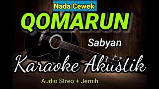 Qomarun | Sabyan Gambus | karaoke Akustik