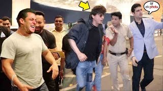 SRK Starts RUNNING When FAN Asks For A SeIfIe At Mumbai Airport | Salman Khan Cant Stop Laughing