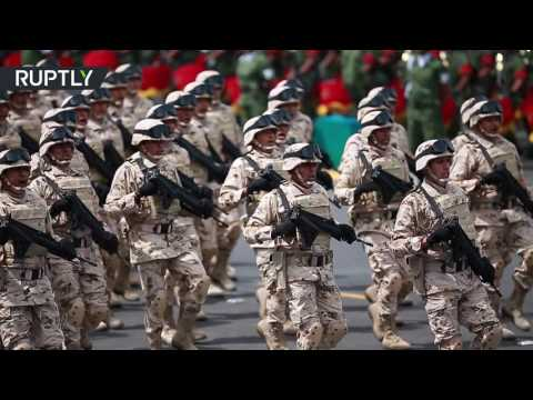 Huge military parade on Independence Day in Mexico