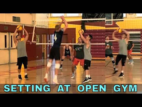 Setting At Open Gym With Mikasa V200W Volleyball (10/27/19)