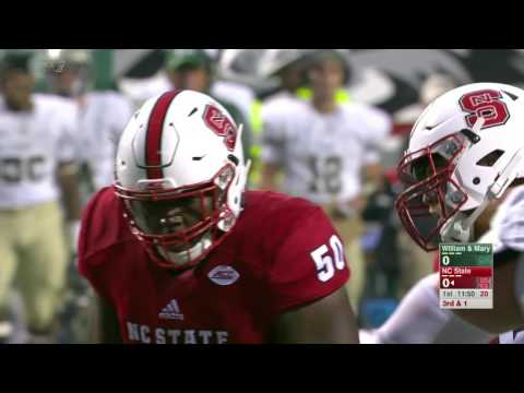 2016.09.01 William & Mary Tribe at NC State Wolfpack Football