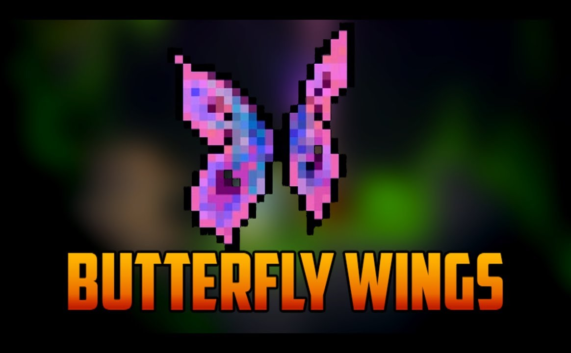 Video - Terraria - Butterfly Wings from Moth Rare Mob-1