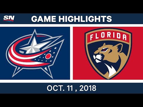 NHL Highlights | Blue Jackets vs. Panthers - Oct. 11, 2018