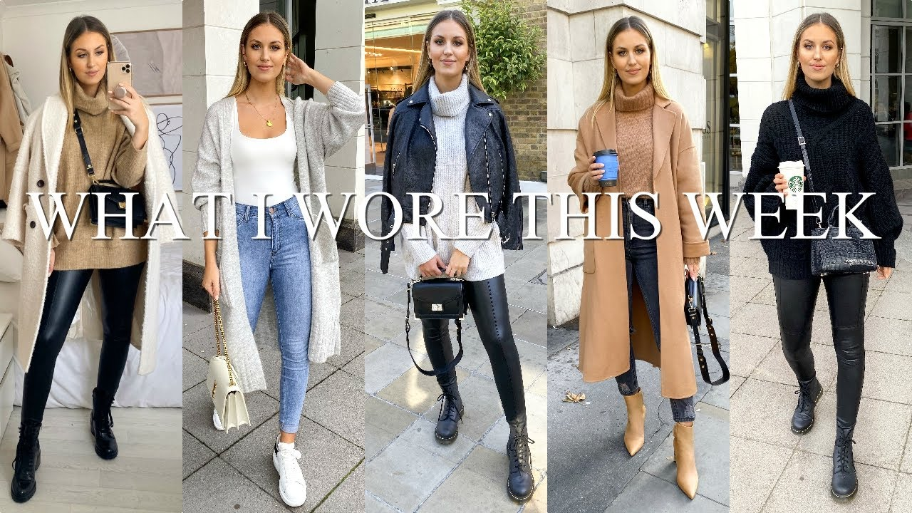 [VIDEO] - 8 AUTUMN/WINTER OUTFITS | WHAT I WORE THIS WEEK 8