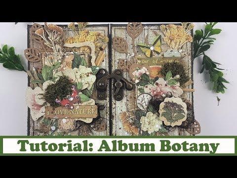 Tutotial Scrapbooking: Album Botany