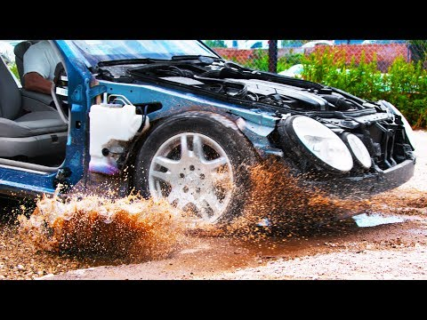 Driving Through the Worst Potholes in 4K Slow Motion - See Through Car (S1 • E1)