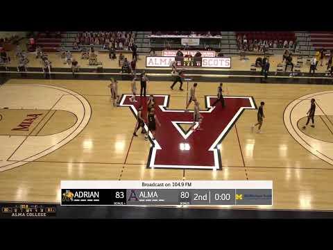 Alma College Men's Basketball vs. Adrian College