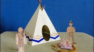 3D Paper Tipi/Teepee Craft Project