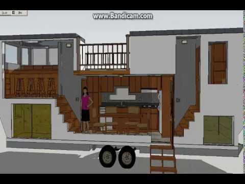 The venture 30 ft model sketchup tiny house design for Tiny house trailer floor plans