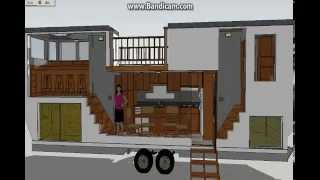"""the Venture"" 30 Ft Model, Sketchup Tiny House Design"