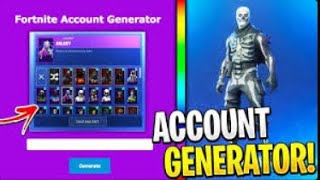 How to generate free Fortnite accounts! Discord in the description!