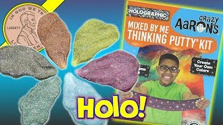 Holographic Crazy Aaron's Mixed By Me Thinking Putty Kit - 5 New Colors!