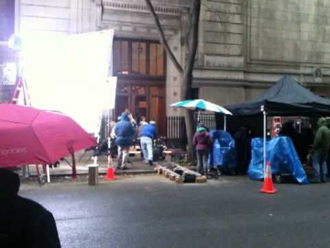 """Filming A Scene For A Pierce Brosnan Movie """"Remember Me"""""""