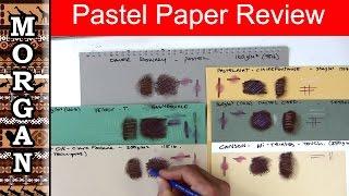 Pastel Paper Review, Pastelmat, Pastel Card, Daler Rowney, Velour
