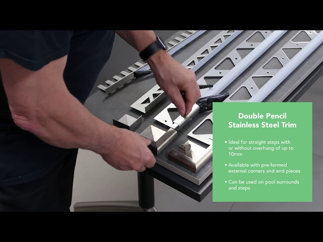 PorcelQuick Porcelain Paving Stainless Steel Edge Profiles